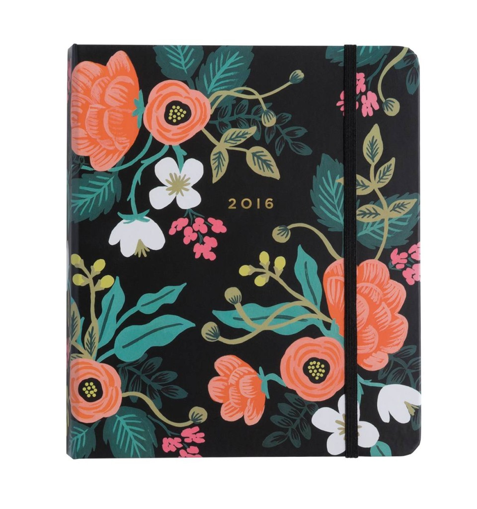 2016 Birch Floral Everyday 17-Moth Planner is a beuaty!